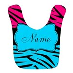 Personalizable Hot Pink and Teal Bib