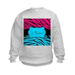 Personalizable Hot Pink and Teal Sweatshirt