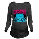 Personalizable Hot Pink and Teal Long Sleeve Mater