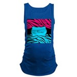 Personalizable Hot Pink and Teal Maternity Tank To