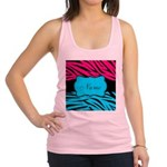 Personalizable Hot Pink and Teal Racerback Tank To