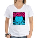 Personalizable Hot Pink and Teal T-Shirt
