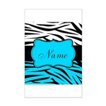 Personalizable Teal and Black Zebra Posters