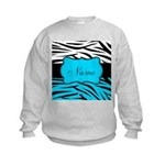 Personalizable Teal and Black Zebra Sweatshirt