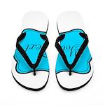 Personalizable Teal Black Flip Flops