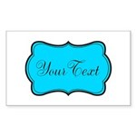 Personalizable Teal Black Sticker