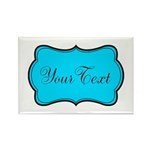 Personalizable Teal Black Magnets