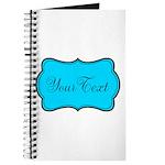 Personalizable Teal Black Journal