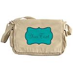 Personalizable Teal Black Messenger Bag