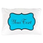 Personalizable Teal Black Pillow Case