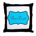 Personalizable Teal Black Throw Pillow