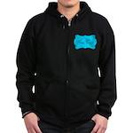 Personalizable Teal Black Zip Hoodie