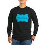 Personalizable Teal Black Long Sleeve T-Shirt