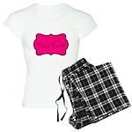 Personalizable Hot Pink and Black Pajamas
