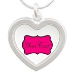Personalizable Hot Pink and Black Necklaces