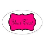 Personalizable Hot Pink and Black Sticker