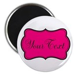 Personalizable Hot Pink and Black Magnets