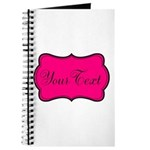Personalizable Hot Pink and Black Journal