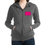 Personalizable Hot Pink and Black Women's Zip Hood