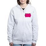 Personalizable Hot Pink and Black Zip Hoodie