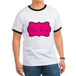 Personalizable Hot Pink and Black T-Shirt