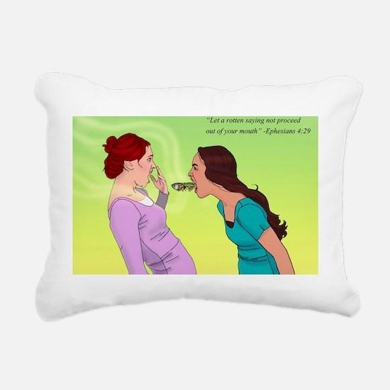 Cute Women bible Rectangular Canvas Pillow