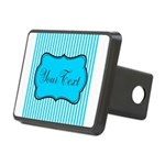 Personalizable Teal and White Hitch Cover