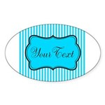 Personalizable Teal and White Sticker