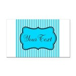 Personalizable Teal and White Rectangle Car Magnet