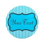 Personalizable Teal and White Button