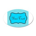 Personalizable Teal and White Wall Decal