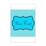 Personalizable Teal and White Posters