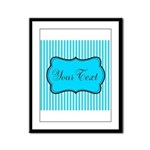 Personalizable Teal and White Framed Panel Print