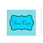 Personalizable Teal and White Postcards (Package o