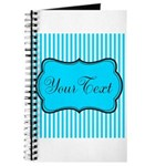 Personalizable Teal and White Journal
