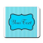 Personalizable Teal and White Mousepad