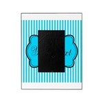 Personalizable Teal and White Picture Frame