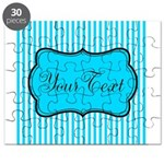 Personalizable Teal and White Puzzle