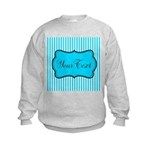 Personalizable Teal and White Sweatshirt