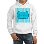 Personalizable Teal and White Hoodie