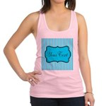 Personalizable Teal and White Racerback Tank Top