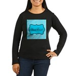 Personalizable Teal and White Long Sleeve T-Shirt