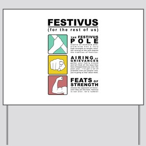 FESTIVUS™ diagram Yard Sign
