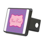 Pink and Blue Personalizable Hitch Cover