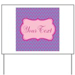 Pink and Blue Personalizable Yard Sign