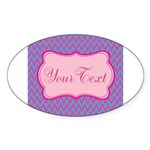 Pink and Blue Personalizable Sticker