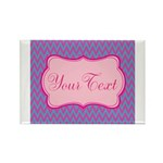 Pink and Blue Personalizable Magnets