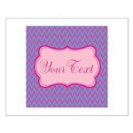 Pink and Blue Personalizable Posters