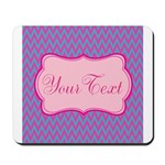 Pink and Blue Personalizable Mousepad