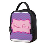 Pink and Blue Personalizable Neoprene Lunch Bag